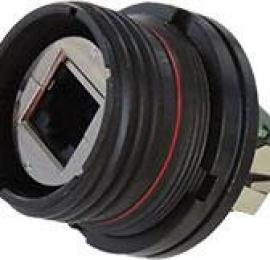 Amphenol PCD RJF TV6 с уменьшенным фланцем - это меньшая и легкая система подключения Ethernet категории 6 для тяжелых условий эксплуатации.